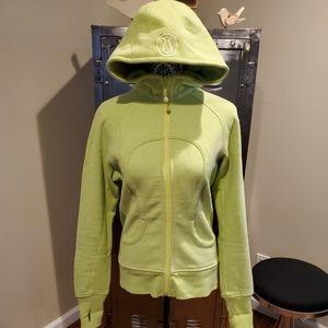 Lululemon Neon Yellow Scuba Hoodie Zip up Jacket